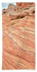 Bath Towel featuring the photograph Sandstone Swirls In Valley Of Fire by Ray Mathis