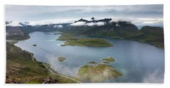 Selfjord And Torsfjord From Volandstinden Bath Towel