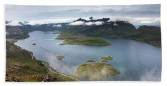 Selfjord And Torsfjord From Volandstinden Bath Towel