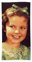 Shirley Temple, Vintage Hollywood Actress Hand Towel