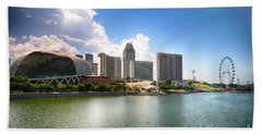 Singapore Hand Towel by Charuhas Images