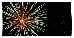 Sister Bay Fireworks Bath Towel
