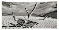 Skull And Antlers Bath Towel