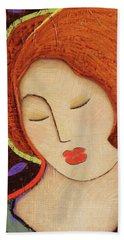 Hand Towel featuring the painting Soul Memory by Gloria Rothrock