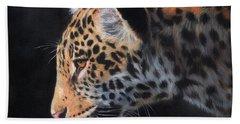 South American Jaguar Hand Towel by David Stribbling