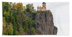 Split Rock Lighthouse Bath Towel by Steve Stuller