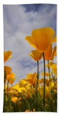 Springtime Poppies  Bath Towel