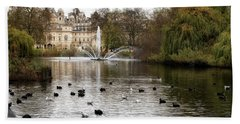 St James Park Bath Towel by Shirley Mitchell
