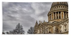 Hand Towel featuring the photograph St Pauls Cathedral by Shirley Mitchell