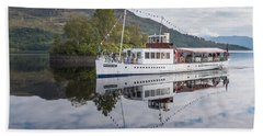 Steamship Sir Walter Scott On Loch Katrine Bath Towel