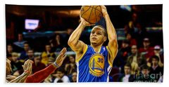 Steph Curry Collection Bath Towel by Marvin Blaine
