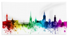 Stockholm Sweden Skyline Bath Towel