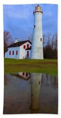 Sturgeon Point Lighthouse Bath Towel by Michael Rucker