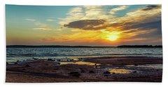 Sun Going Down Hand Towel by Doug Long