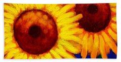 Sunflower Duet  Hand Towel