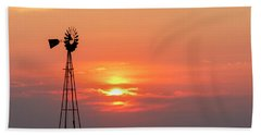 Sunrise And Windmill 01 Bath Towel