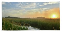 Sunrise At Glacial Park Bath Towel