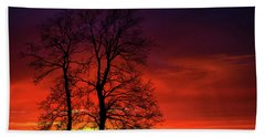 Hand Towel featuring the photograph Sunset by Bess Hamiti