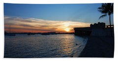 Bath Towel featuring the photograph 2- Sunset In Paradise by Joseph Keane