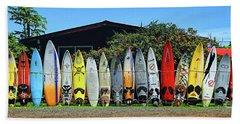 Surfboard Fence Maui Hawaii Bath Towel