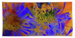 Texture Flowers Bath Towel