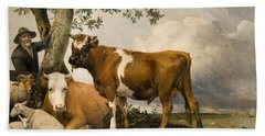 The Bull Hand Towel by Paulus Potter