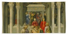 The Crippled And Sick Cured At The Tomb Of Saint Nicholas  Bath Towel
