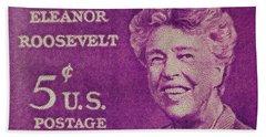 The Eleanor Roosevelt Stamp Bath Towel
