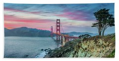 The Golden Gate Bath Towel by JR Photography