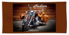 The Indian Motorcycle Bath Towel by David Patterson
