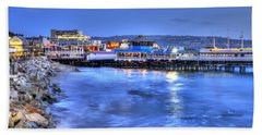 Redondo Landing At Night Bath Towel