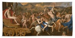 The Triumph Of Bacchus Hand Towel by Nicolas Poussin