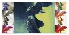 The Winged Victory - Paris - Louvre Hand Towel by Marianna Mills