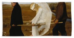 The Wounded Angel Bath Towel