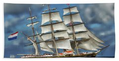 Three Mast Schooner Hand Towel