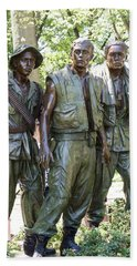 Three Soldiers Hand Towel by David Bearden