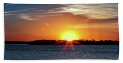 Thunderbird Sunset Hand Towel by Doug Long