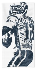 Tom Brady New England Patriots Pixel Art 5 Hand Towel
