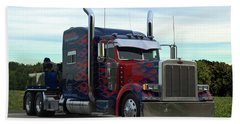 Transformers Optimus Prime Tow Truck Bath Towel