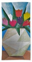 Tulips Bath Towel by Tamara Savchenko