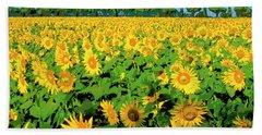 Tuscany Sunflowers Bath Towel
