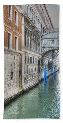 Venice Hand Towel by Yury Bashkin