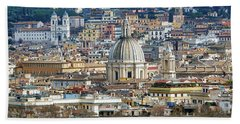 View Of Rome Italy From Atop Gianicolo Hill Bath Towel