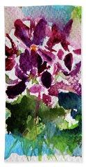 Bath Towel featuring the painting Violet by Kovacs Anna Brigitta