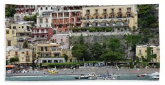Water Taxi From Amalfi To Positano Bath Towel