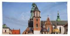 Wawel Cathedral In Krakow Hand Towel