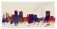 Wichita Kansas Skyline Bath Towel