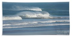 Windy Seas In Cornwall Bath Towel by Nicholas Burningham