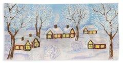 Winter Landscape, Painting Hand Towel