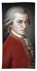 Wolfgang Amadeus Mozart Hand Towel